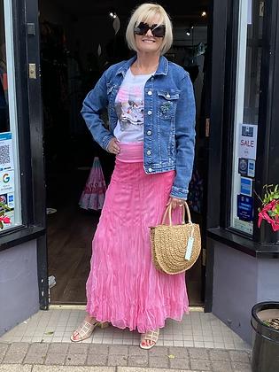 Margo Hot Pink Maxi Skirt