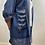Thumbnail: Casual Hooded Sequin Denim Jacket