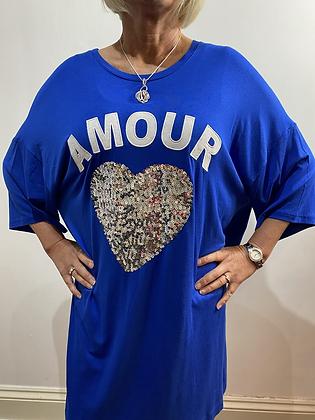 Plus Size Amour Heart T-shirt