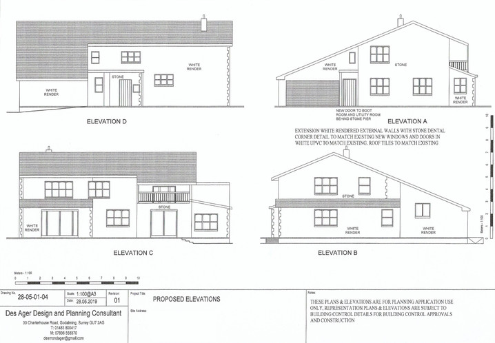 Kitchen extension elevations