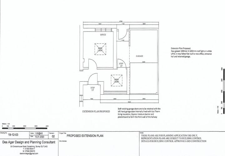Garage office conversion detailed plan