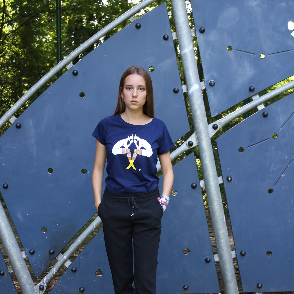 thumbnail_Arteeshow T-shirt femme coton bio Evelyne Axell artiste pop art belge[1]