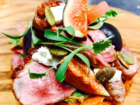 Seared magret duck breast