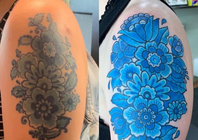 Delft Blue Flower fix - up