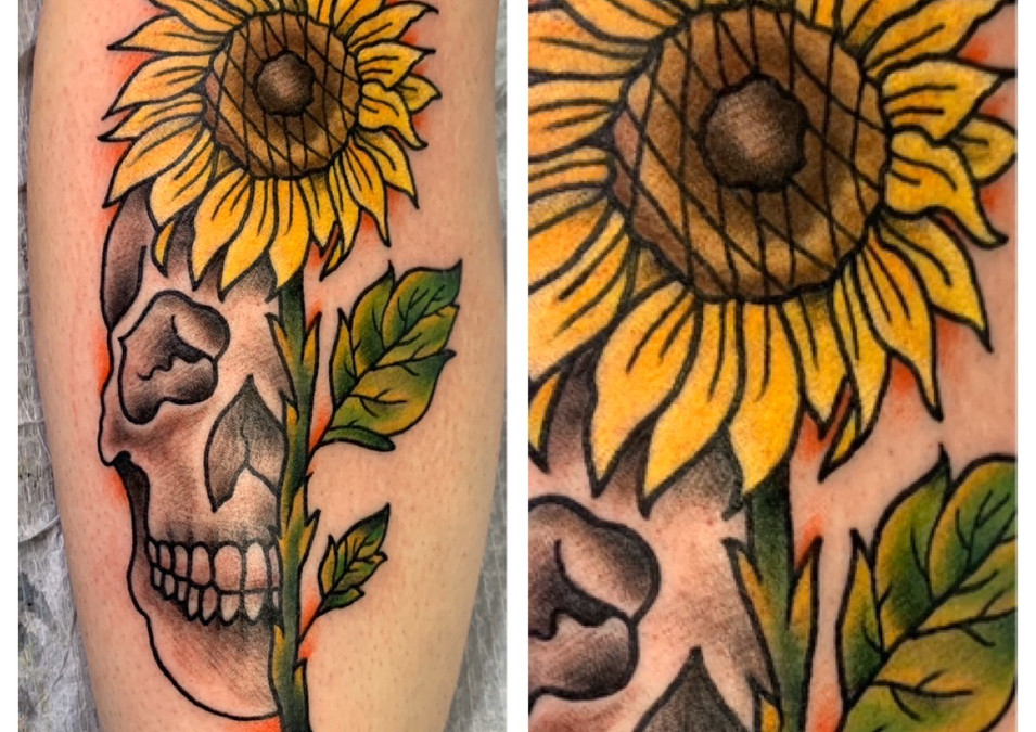Skull and Sunflower