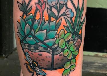 Succulent Terrarium Tattoo