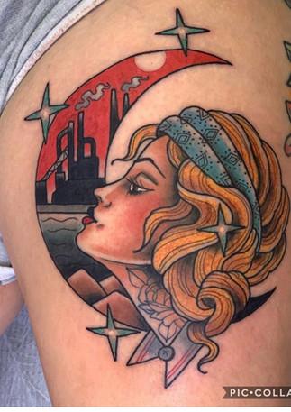 Industrial Lady Head