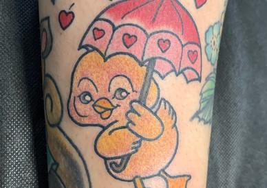 Cute Duckie with Umbrella