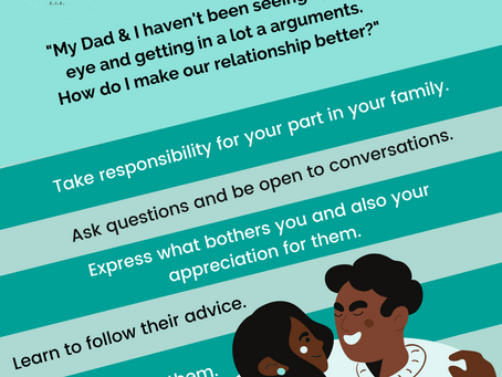 How to have a Better Relationship with your Parents