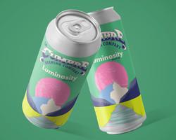 Luminosity Hazy IPA cans