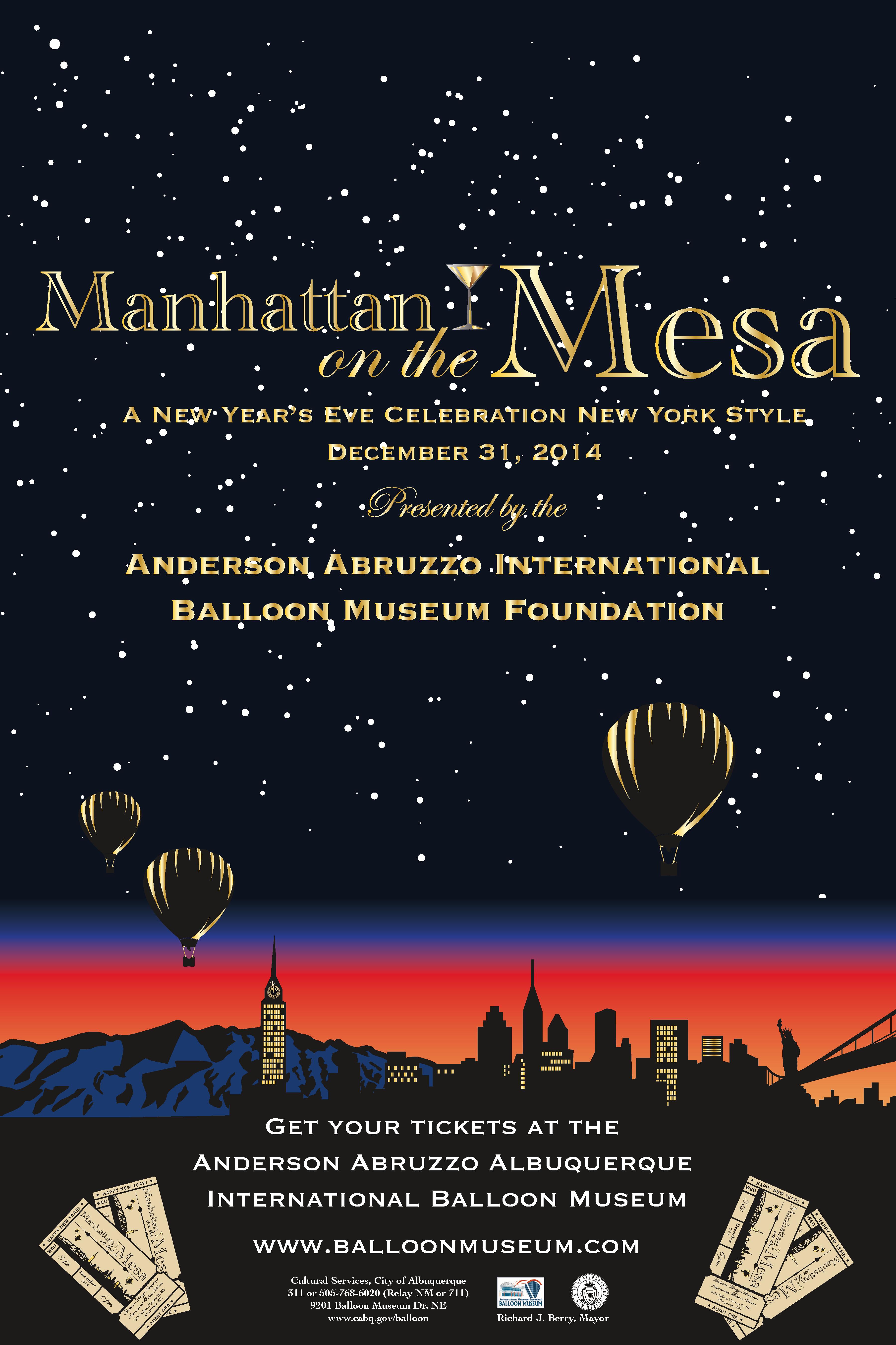 Manhattan on the Mesa Poster