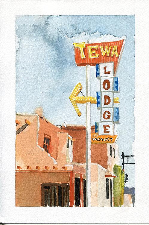 Tewa Lodge Original Painting