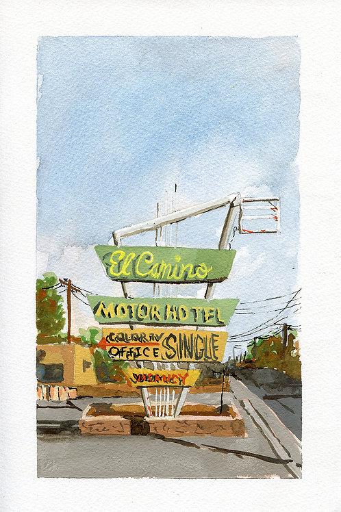 El Camino Motor Hotel Original Painting