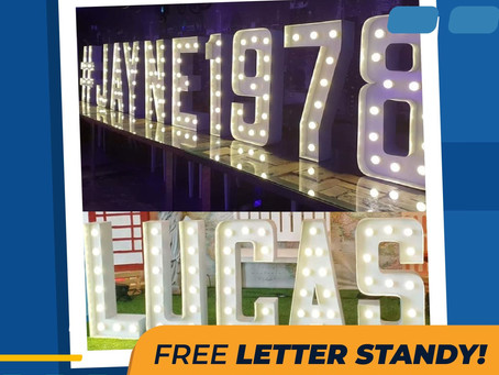 Letter Standy for your event!