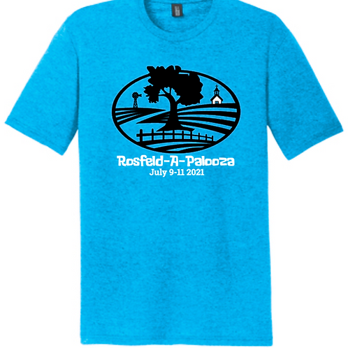 #2-ROSFELD-TURQUOISE TRIBLEND T-SHIRT