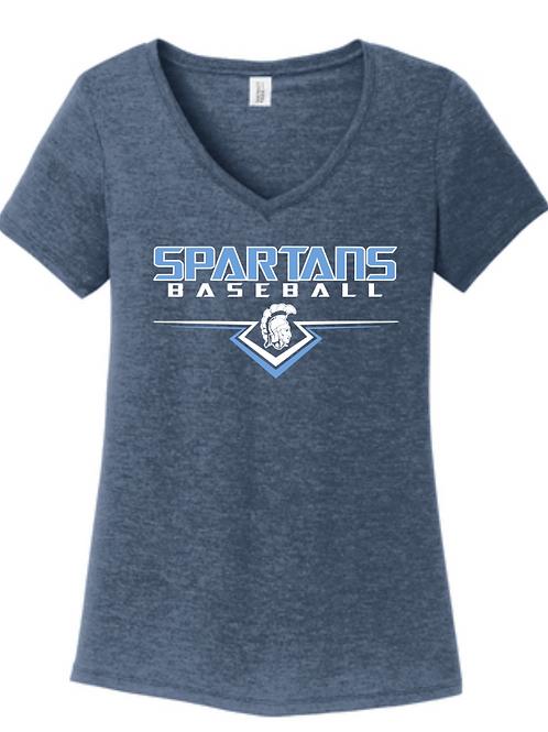 Spartans #4 Ladies Vneck T-shirt