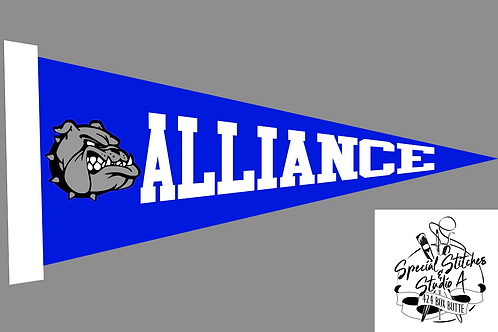 Large Sublimation Alliance Felt Pennant