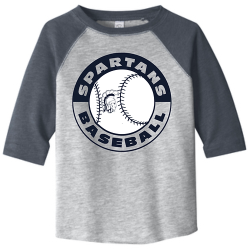 Spartans #16 3/4 Youth Baseball Tee