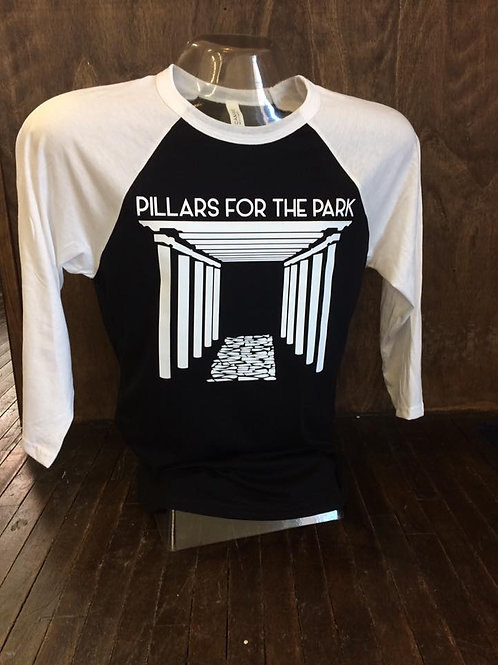 Pillars for the Park T-shirt 3/4 Baseball Tee