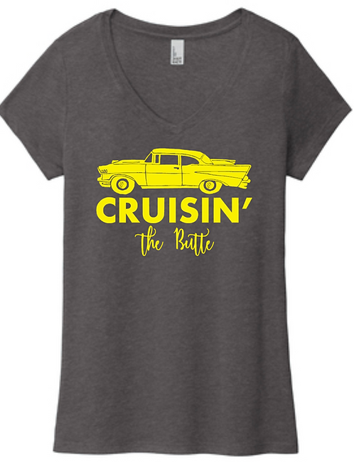 Classic Cruisin' The Butte - Ladies Vneck-T-shirt