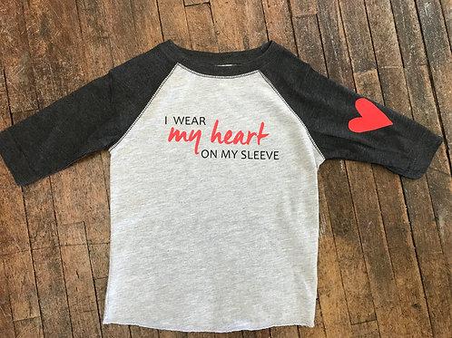Heart on Sleeve Youth Baseball Tee