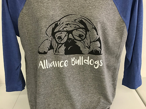 Alliance Bulldog 3/4 Baseball Tee
