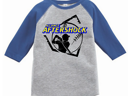 AFTERSHOCK YOUTH 3/4 BASEBALL TEE #14