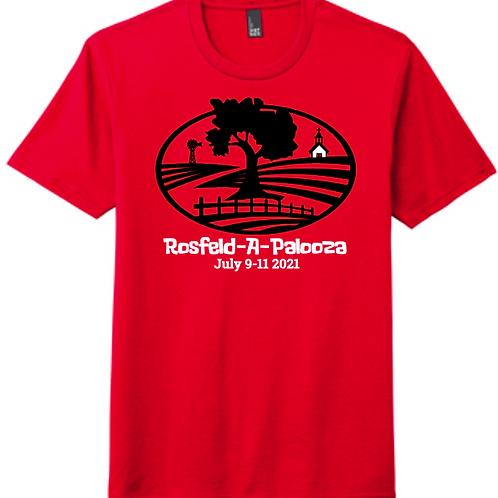 #1-ROSFELD-RED TRIBLEND T-SHIRT