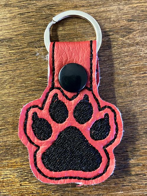 Bobcat Paw Key Fob
