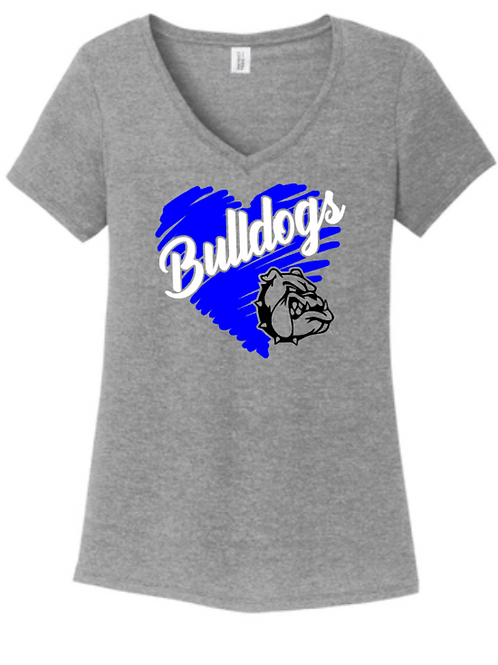 Bulldog Love Ladies Vneck