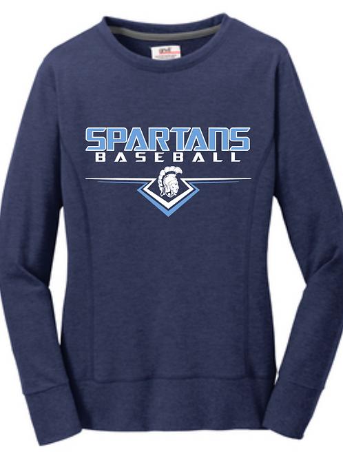 Spartans #12 Ladies Crewneck Sweatshirt