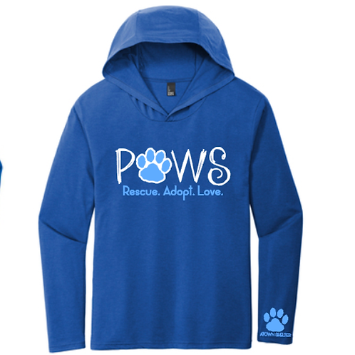 PAWS LONSLEEVE HOODED T-SHIRT