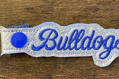 Bulldog Font Key Fob