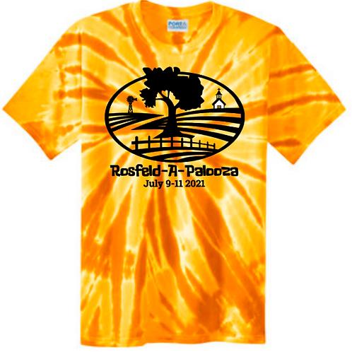 #5-ROSFELD-YELLOW GOLD TIE-DYE T-SHIRT