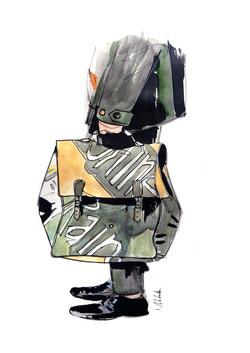 Burberry / fashion illustration