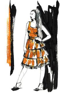 ink fashion illustration