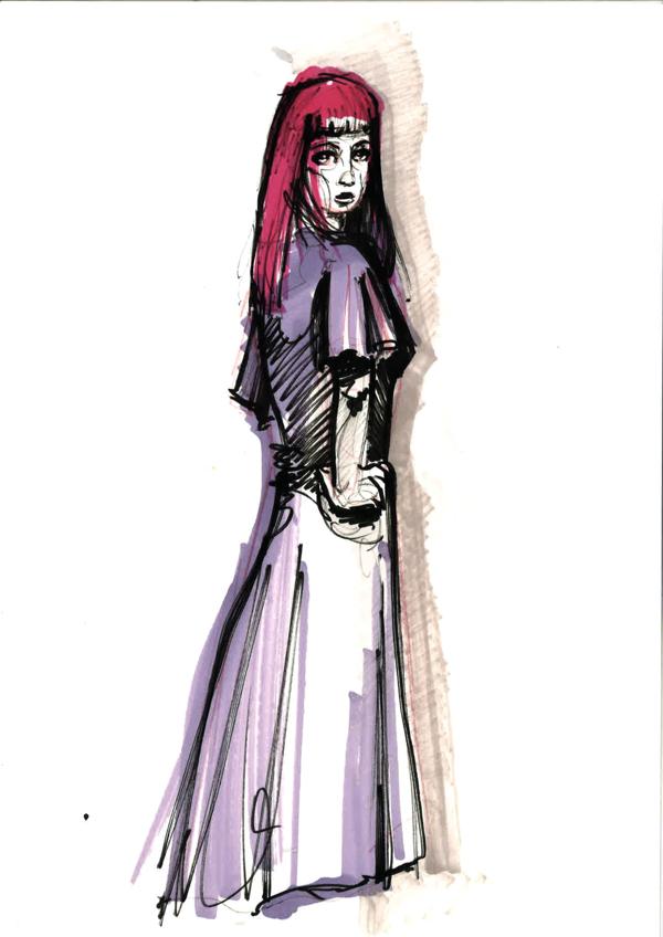 Purple fashion illustration