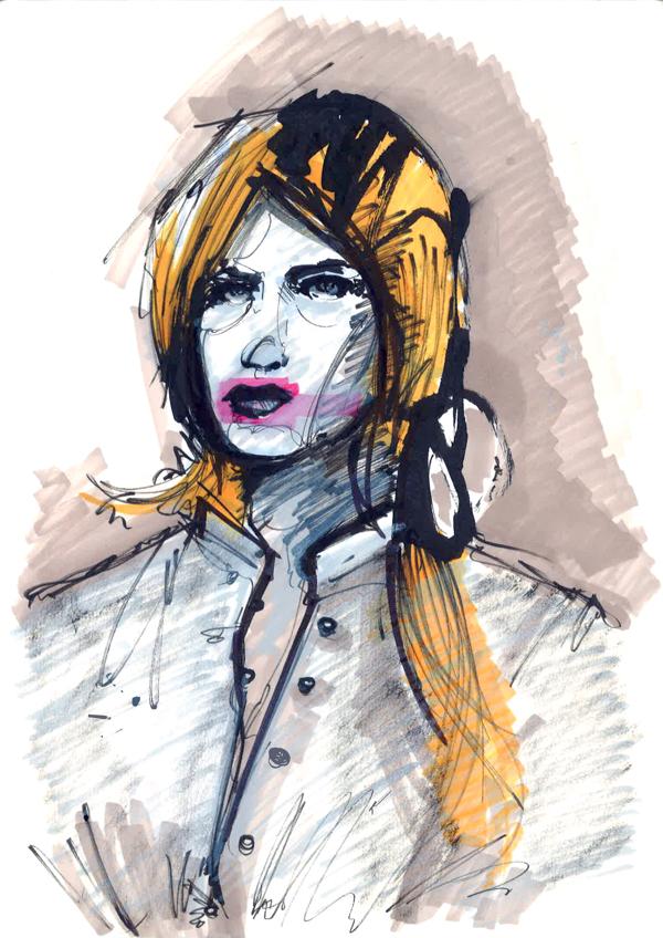 Markers fashion illustration