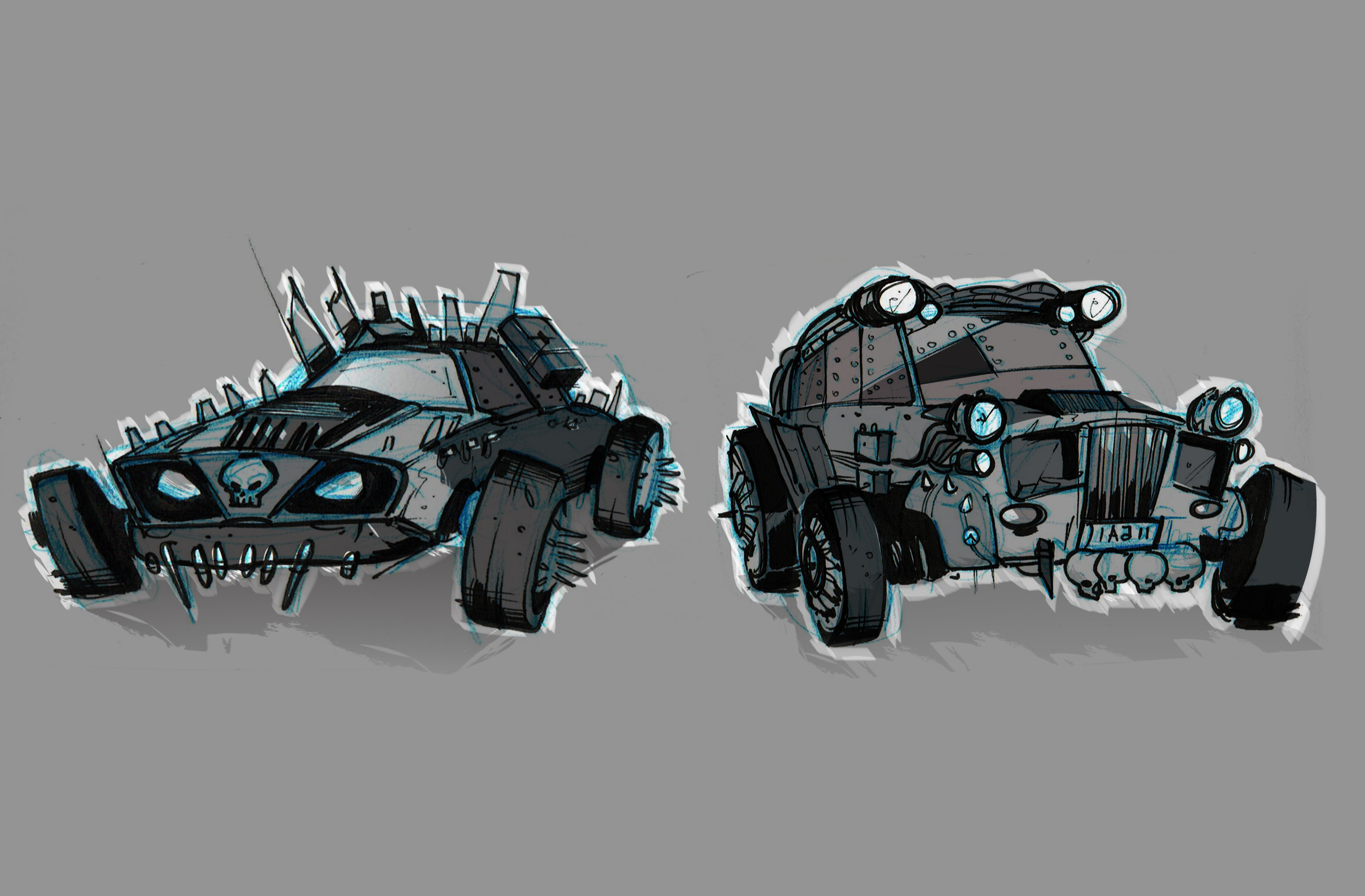 Madmax_cartoon style cars01