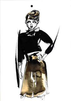 Ink and Coffee fashion illustration