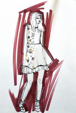 London Fashion illustration