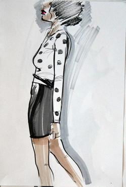 Fashion illustration detail