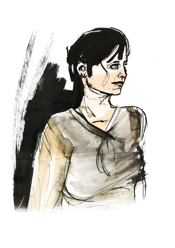 Portrait fashion illustration