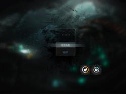 pause screen UI