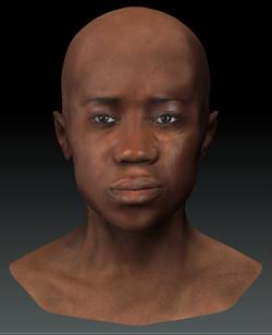 facial study / african