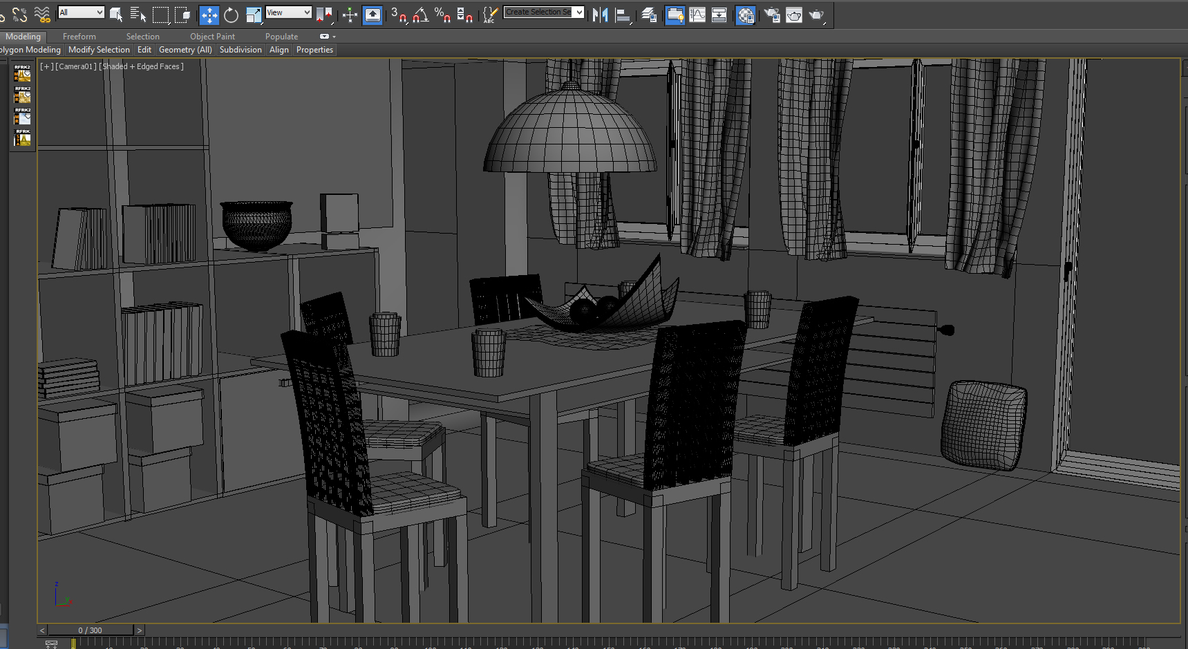 wireframe interior design