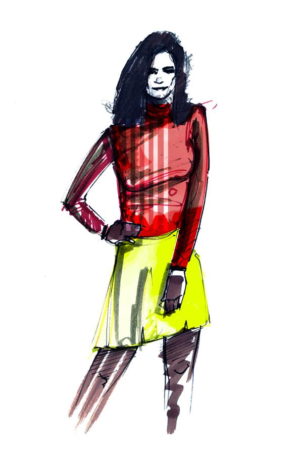 fashion illustration colors