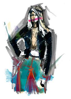 Retro fashion illustration