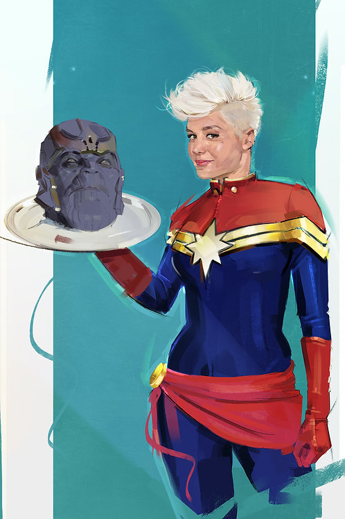 CaptainMarvel V Thanos (Limited 100 copies) A3