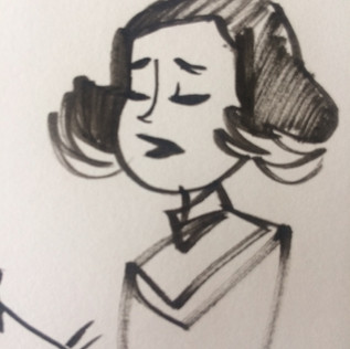 cartoon ink sketch